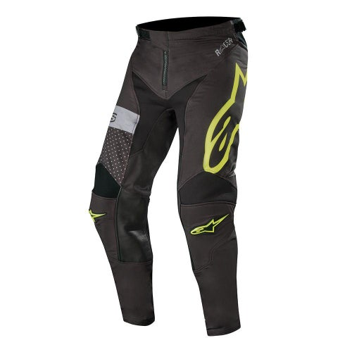 Alpinestars Racer Tech Atomic Motocross Pants - Black Yellow Fluo Gray