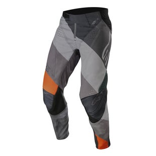Calzones de MX Alpinestars Techstar Venom - Anthracite Gray Orange Fluo