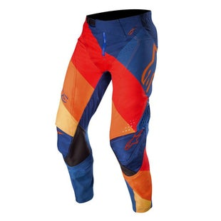 Calzones de MX Alpinestars Techstar Venom - Dark Blue Red Tangerine