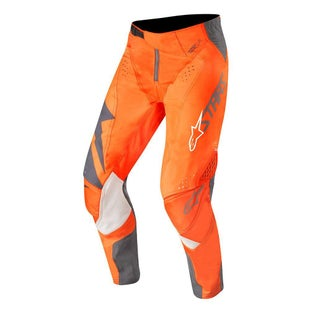 Calzones de MX Alpinestars Techstar Factory - Anthracite Orange Fluo