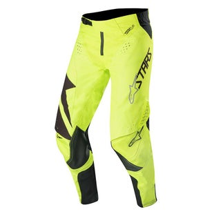 Calzones de MX Alpinestars Techstar Factory - Black Yellow Fluo