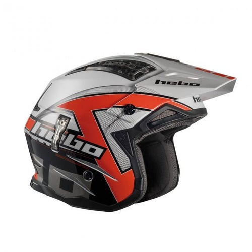 Hebo Zone 4 Fibre Kontrox Trials Helmet - Red