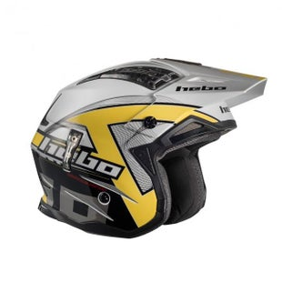 Hebo Zone 4 Fibre Kontrox Trials Helmet - Yellow