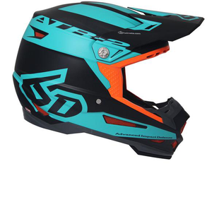 6D ATR2 Motocross Helmet - Sector Teal Orange