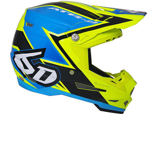 6D ATR2 Motocross Helmet - Strike Yellow