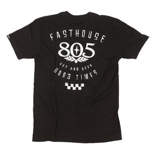 Fasthouse Fh 805 Checkers Short Sleeve T-Shirt - Black