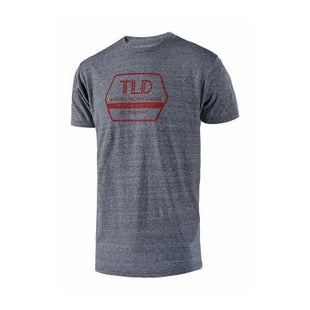 Troy Lee Factory Short Sleeve T-Shirt - Vintage Grey