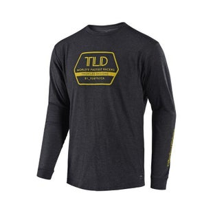 Troy Lee Factory Long Sleeve T-Shirt - Charcoal
