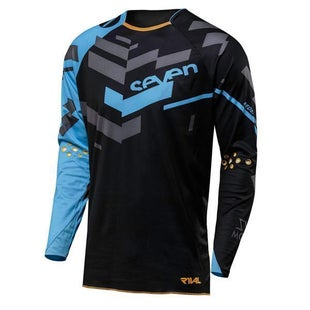 Seven 182 Rival Volume Motocross Jerseys - Black Blue
