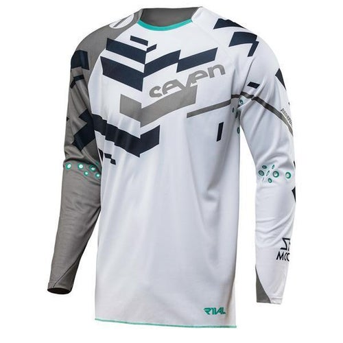 Seven 182 Rival Volume Motocross Jerseys - Grey White