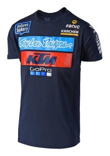 Troy Lee TEAM KTM YOUTH Boys Short Sleeve T-Shirt - TROY LEE DESIGNS TEAM KTM YOUTH T SHIRT NAVY