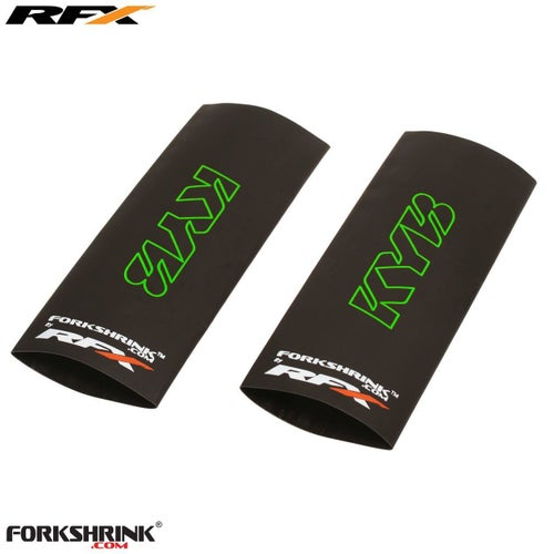 RFX Forkshrink Upper Fork Guard with KYB logo Universal 125cc525cc Upper Fork Decal - Green