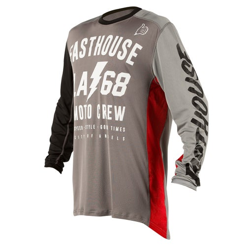 Fasthouse La68 L1 Air Cooled Motocross Jerseys - Grey