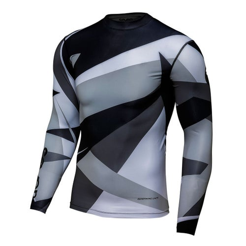 Seven 19.1 Zero Youth Compression Youth Motocross Jerseys - Battleship Grey Black