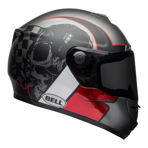 Bell SRT Hart Road Helmet - Luck Skull Charcoal White Red