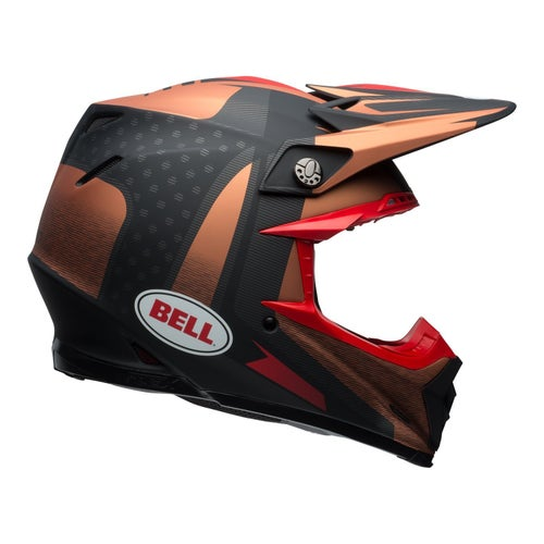 Bell Moto-9 Flex Vice Helmet Motocross Helmet - Copper/black