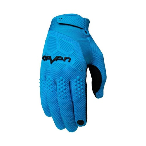 Seven 19.1 Rival Motocross Gloves - Cyan