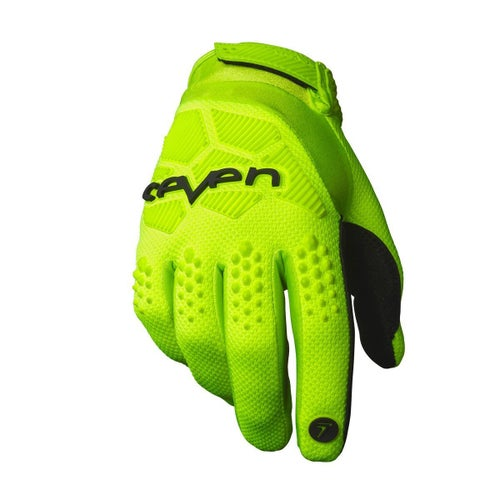 Seven 19.1 Rival Motocross Gloves - Flo Yellow