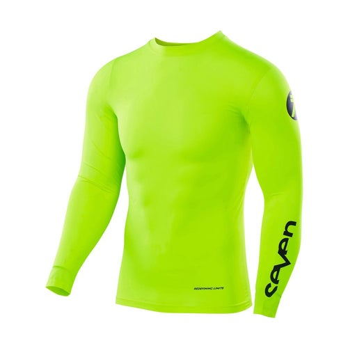 Seven 19.1 Zero Compression Motocross Jerseys - Flow Yellow