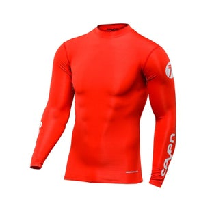 Seven Seven Mx 19.1 Zero Adult Compression Jersey Motocross Jerseys - Red