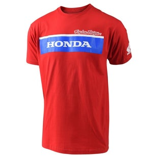 Troy Lee Honda Wing Block Short Sleeve T-Shirt - Red