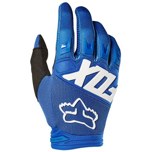 Fox Racing Dirtpaw Race YOUTH Motocross Gloves - Blue
