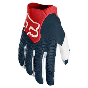 Fox Racing Pawtector Motocross Gloves - Navy Red
