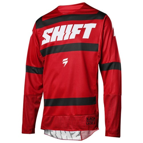 Shift MX 3LACK LABEL Strike Motocross Jerseys - Dark Red
