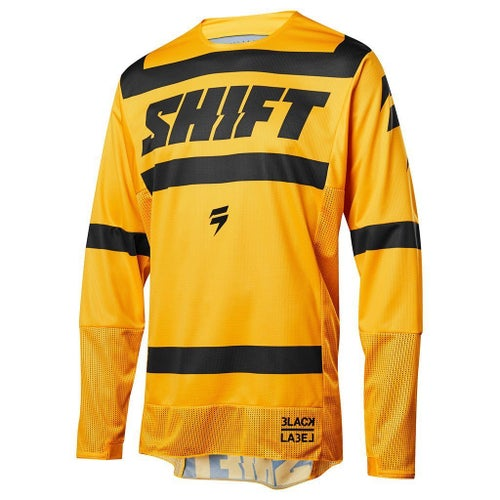 Shift MX 3LACK LABEL Strike Motocross Jerseys - Yellow