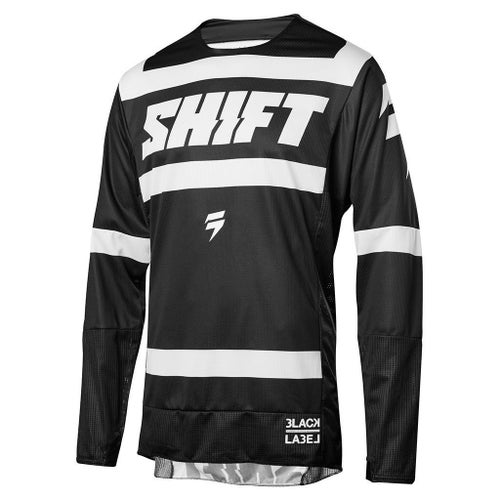 Shift MX 3LACK LABEL Strike Motocross Jerseys - Black