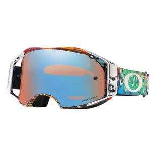 Oakley AirbrakeJeffrey Herlings Signature Graffito Red White Blue Motocross Goggles - Prizm Sapphire Iridium Lens