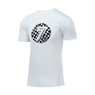 Seven Casual 181Dot Boys Short Sleeve T-Shirt - White Checkmate