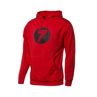 Seven Casual 181 Dot Pullover Hoody - Red