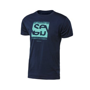 Seven Casual 171 Noise Short Sleeve T-Shirt - Navy