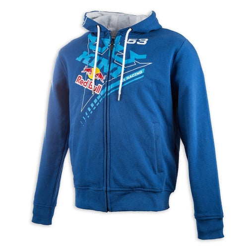 Kini Red Bull Ribbon Zip Hoody - Navy White