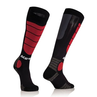 Acerbis MX Motocross Impact JUNIOR Boys MX Boot Socks - Black Red