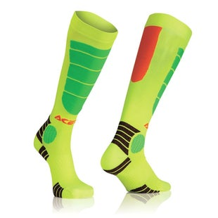 Acerbis MX Motocross Impact JUNIOR Boys MX Boot Socks - Fluo Orange Fluo Yellow