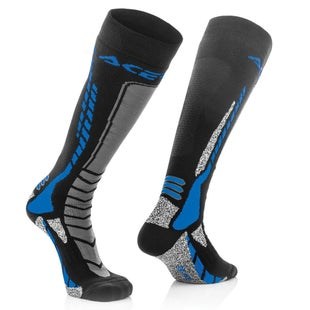 Acerbis MX Motocross Pro MX Boot Socks - Black Blue
