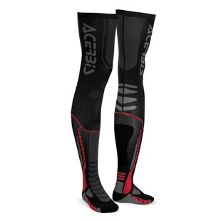 Acerbis MX Motocross XLeg Pro Knee Brace Socks - Black Red