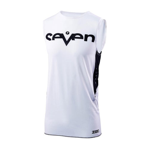 Seven 19.1 Zero Staple Over Vest Motocross Jerseys - White