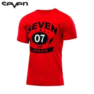 Seven Casual 162Tee Short Sleeve T-Shirt - Arena Red