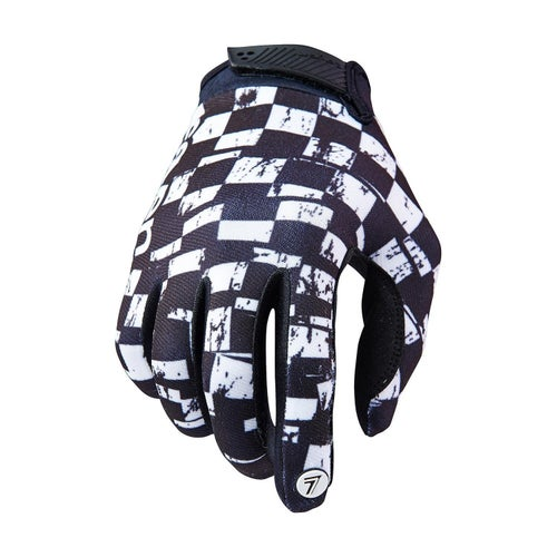 MX Glove Seven 19.1 Annex Checkmate - White