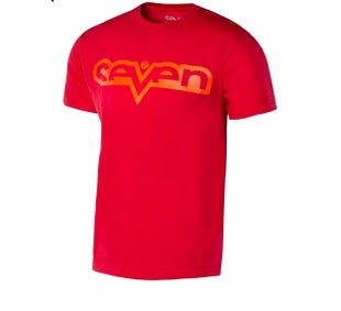 Seven Casual 171 Brand Short Sleeve T-Shirt - Red Red