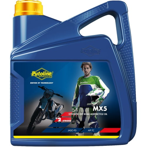 Putoline Mx5 4 Ltr 2 Stroke Oil Mix - Clear