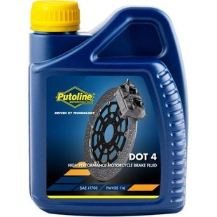 Brake Fluid Putoline Dot 4 Brake Fluid 500 Ml - Clear
