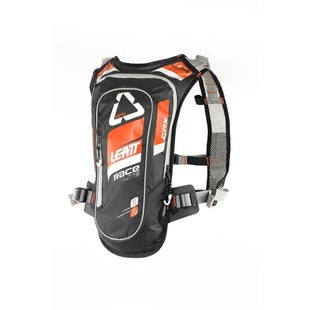 Leatt GPX Race HF 20 Hydration Backpack Hydration Backpack - Orange Black