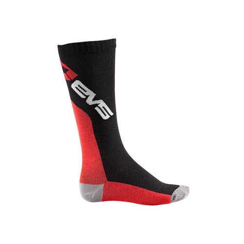MX Boot Socks EVS Adult Moto Pair - Black Red