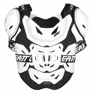 Leatt 55 Pro MX Motocross and Enduro Chest Protector Chest Protection - White