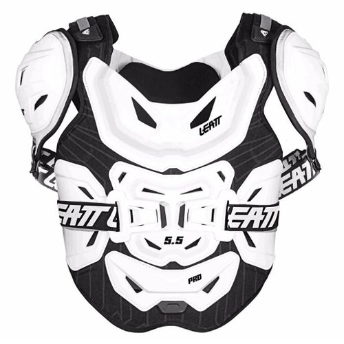 Chest Protection Leatt 5.5 Pro MX Motocross and Enduro - White