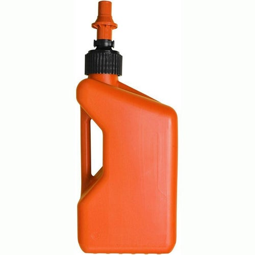 Fuel Can And Refueling Tuff Jug 20 Litre Motocross and Enduro inc Ripper Valve - Orange